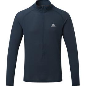 Mountain Equipment Solar Eclipse T-shirt zippé Homme, bleu